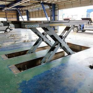 イヤサカ/ビシャモン/Bishamon 3t/3000kgマルチユースリフト・2tジャッキングビーム付 3相200V・エアーにて稼働