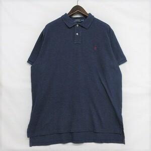ポロ ラルフローレン サイズ XL ポロシャツ 半袖 ロゴ ワンポイント コットン ネイビー Polo Ralph Lauren 古着 ビッグサイズ 1J2864