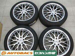[ unused tire used wheel 4 pcs set ]BADX Loxarny multi foruketa18 -inch 7.0J+53 PCD114.3/5 hole Pirelli 215/45R18 2021 year manufacture