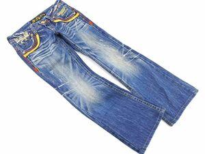REDPEPPER レッドペッパー ダメージ加工 ブーツカット デニムパンツ size26/青 ■■ ☆ bfc9