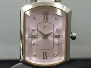 4℃ 腕時計 クオーツ 704045 ピンク