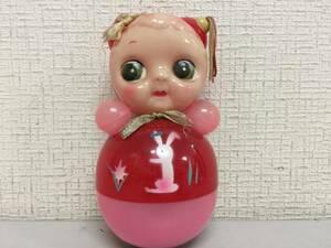 昭和レトロ 起き上がりこぼし セルロイド 13.5cm 当時物 ミニ 珍品 レア おもちゃ屋さん 蔵出し 未使用   A8.2   787