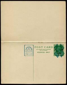 南方占領地切手 ステーショナリー ビルマ ビルマ行政府発行 1943年 1/2A+1/2A/9p+9p 往復はがき 未使用 JPS:4BS8 z12275