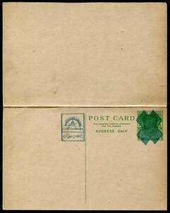 南方占領地切手 ステーショナリー ビルマ ビルマ行政府発行 1943年 9p+9p 往復はがき 未使用 JPS:4BS6 z12269