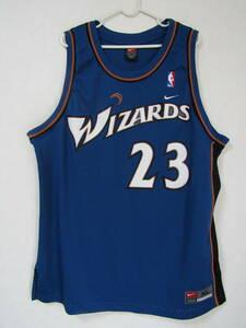 良品 NBA WIZZARDS マイケル・ジョーダン JORDAN #23 NIKE製 ワシントン・ウィザース ナイキ ユニフォーム ジャージ バスケ シャツ 刺繍