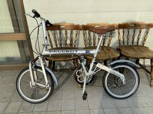 貴重 ヴィンテージ PEUGEOT プジョー パシフィック Outdoor Extreme 折りたたみ 自転車 ミニベロ 7段変速