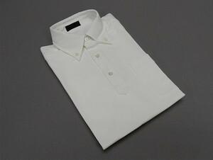 ☆訳あり ビズポロ 半袖 白 鹿の子 ボタンダウン COOL MAX 超細身 ビジネスポロシャツ ULP001-BD-WH ■M■
