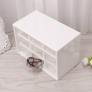 【激安】便利なミニ収納ボックス☆ジュエリー アクセサリー ヘアアクセサリー DIY 道具箱 工具 キャビネット 引き出し ケース ホワイト R