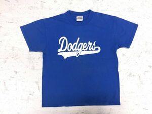 【送料無料】Dodgears ロサンゼルスドジャース MLB アメカジ 野球 ベースボール 半袖Tシャツ Hanes製 キッズL(14-16) 大人も◎ 青