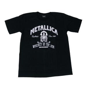 BROADWAY ロック メタリカ バンド ロゴ Tシャツ #3 ブラック (Lサイズ)