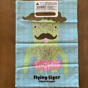 FLYING TIGER フライングタイガー 限定 ビニール袋 10枚 ショッパー 手提げ袋 ビニール ショップ袋 プレゼント ギフト ラッピング 新品 ④