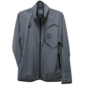 処分 asics アシックス LIMOストレッチクロスジャケット トレーニングシャツ ジャージ スティールグレー 2031A647 Mサイズ 23001