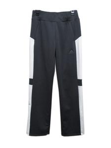 処分 adidas アディダス ウィメンズ レディス Team カラーブロック ジャージパンツ UVカット EBT04 ユーティリティブラック Mサイズ 23300