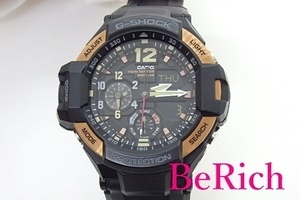 カシオ CASIO G-SHOCK グラビティ マスター メンズ 腕時計 GA-1100RG ブラック 黒 文字盤 SS 樹脂 ブレス クォーツ【中古】ht4019