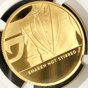 ★最高鑑定65枚のみ 2020年 イギリス ジェームズ・ボンド 100ポンド 金貨 NGC PF70UC 第3貨 1オンス プルーフ モダン コイン
