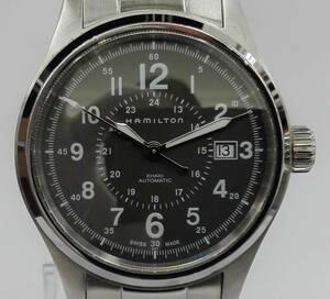 ハミルトン HAMILTON カーキ フィールド H70595163 ACB444530 メンズ腕時計 自動巻き 裏スケ 緑文字盤 箱 取説  店舗受取可