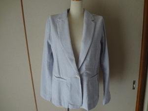 新品。おしゃれなストライプのジャケット、テーラード、春夏、サマージャケット、6900円