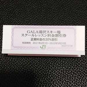 ガーラ湯沢スキー場 スクールレッスン料金 20%割引券 多数出品