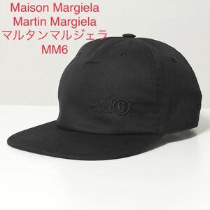 新品 メゾンマルジェラ MM6 帽子 ベースボールキャップ ブラック レディース