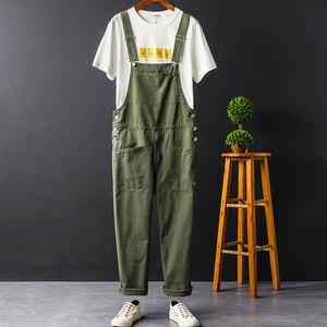 新作 メンズ オーバーオール サロペット ジャケット サスペンダーズボン 春 ペインター 作業服 パンツ ズボン 3色[M-3XL]選択可グリーン