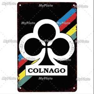 ヴィンテージ バイク 金属看板 20×30 コルナゴ colnago 自転車 ロードバイク クロスバイク MTB ピスト ガレージ レトロ ビンテージ 1193