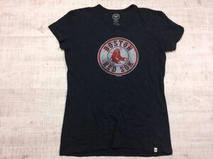47 フォーティーセブン 杢 ボストンレッドソックス RED SOX MLB メジャー 野球 半袖Tシャツ レディース L 紺