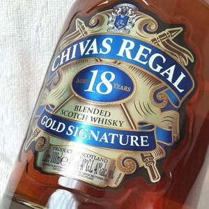 未開封 1リットル CHIVAS REGAL 18年 シーバスリーガル プレミアム GOLD SIGNATURE 1L. 箱付き