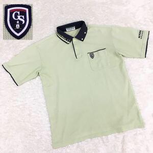 MUNSINGWEAR マンシングウェア グランドスラム デサント スポーツ ゴルフウェア 半袖ポロシャツ ワンポイント メンズ SAサイズ 日本製