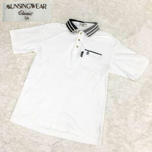 Munsingwear マンシングウェア クラシック デサント スポーツ ゴルフウェア 半袖ポロシャツ 刺繍ワンポイント メンズ SAサイズ 日本製