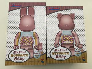 MY FIRST R@BBRICK B@BY MY FIRST NY@BRICK B@BY 100% & 400% PINK GOLD Ver. 2体セット 未開封新品 メディコムトイ medicom toy
