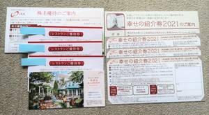【送料無料】IKK アイケイケイ株主優待券 レストラン優待券3枚 結婚式場幸せの紹介券3枚 2022年7月31日まで 優待案内付き