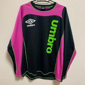 【美品 XL相当】UMBRO futsalstyle 長袖 プラクティスシャツ サッカー フットサル トレーニングウェア アンブロ