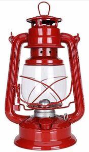 ランタン 灯油ランプ アンティーク ハンドランタン オーナメント グランピング ブロンズランタン レッド28cm BBQ キャンプ