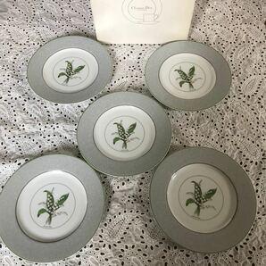 クリスチャンディオール Christian Dior 5枚セット ケーキ皿 ミリラフォーレ すずらん  パン皿 ディオール
