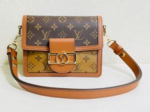 Louis Vuitton ルイヴィトン モノグラム ドーフィーヌ MINI ショルダーバッグ モノグラム・リバース M44580 ブラウン ゴールド金具