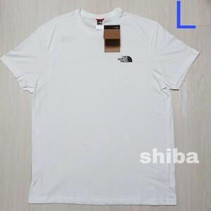 THE NORTH FACE ノースフェイス tシャツ 半袖 トップス 白 ホワイト シンプルドーム simple 海外Lサイズ