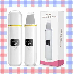 超音波 ウォーターピーリング 美顔器【2021最新】EMSマッサージ 毛穴ケア スキンケア USB充電式