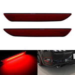 (大人気) フォードマスタング フロント リア テール サイド マーカー ランプ 信号ライト バンパー リフレクター 赤