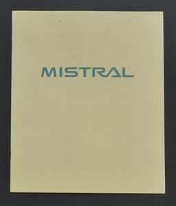 日産 ミストラル NISSAN MISTRAL Y-R20 1994年6月 カタログ オプションパーツダイジェスト付きです。旧車 レア 希少車