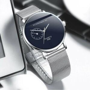 R010 2020 男性ファッション 流行 超薄型時計 シンプル ビジネス ステンレス鋼 メッシュストラップ クォーツ時計 レロジオ masculino xq