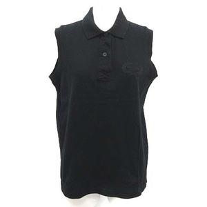クリスチャンディオール Christian Dior SPORTS ポロシャツ ノースリーブ ヴィンテージ M 黒 ブラック /YM ■EC レディース