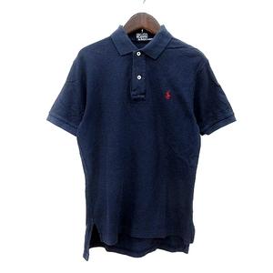 ポロ バイ ラルフローレン Polo by Ralph Lauren ポロシャツ ワンポイント 半袖 S 紺 ネイビー /MN メンズ