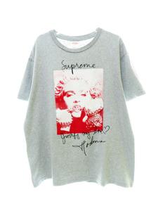 シュプリーム SUPREME 18AW Madonna Tee マドンナ フォト プリント Tシャツ 半袖 M グレー 【ブランド古着ベクトル】【中古】 210629☆AA★