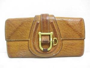 トフ&ロードストーン TOFF&LOADSTONE 長財布 レザー 二つ折り 茶 ブラウン ロングウォレット 箱 保存袋付き レディース