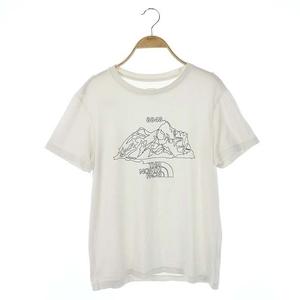 ザノースフェイス THE NORTH FACE プリントTシャツ カットソー 半袖 クルーネック M 白 ホワイト NT31443 /ES ■OS メンズ