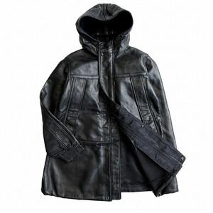 未使用品 ワイスリー Y-3 ヨウジヤマモト Yohji Yamamoto レザー スイッチング モッズ コート ジャケット ブルゾン ロゴ XXS メンズ ●6