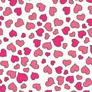 90*USAコットンロラライハリスMini Heart白ハンドメイド生地布地