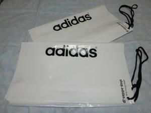 ◆2枚セット◎adidas ランドリーバッグ!【adidas】アディダス★非売品◎ビニール製★前後にadidasロゴ★カラー/白◎サイズ/約57㎝×50㎝◆