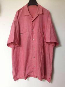 Y's for men オールド オープンカラー シャンブレーシャツ オーバーサイズ ピンク 赤 ヨウジヤマモト 90s 開襟