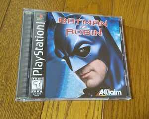 【美品/北米版/国内本体動作不可】PS バットマン&ロビン BATMAN&ROBIN プレイステーションソフト